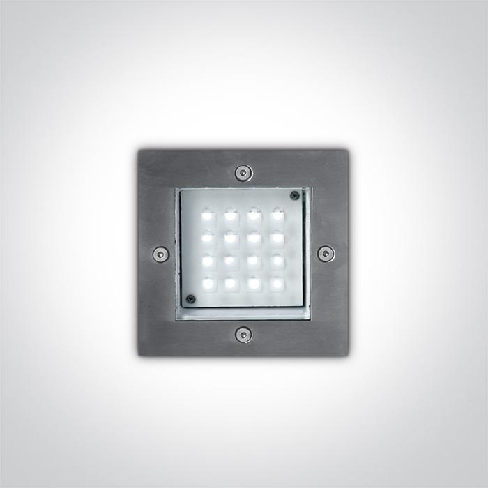 ONE Light S/steel Wall Recessed Red 1,6w Ip54 230v 5291889008408 68001/R