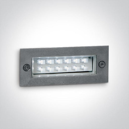S/STEEL WALL RECESSED RED 1,2w IP54 230v