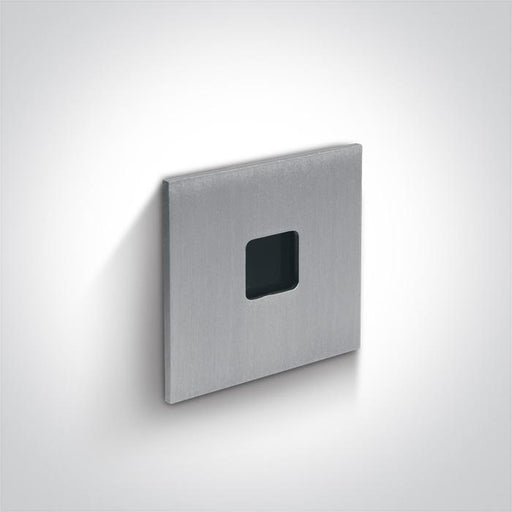 ONE Light Aluminium Recessed 1w Warm White Dark Light Ip54 350ma 5291889050315 68004A/AL/W