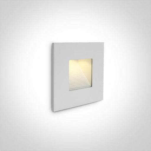 WALL RECESSED 1W LED WW IP44 230V BODY ONLY