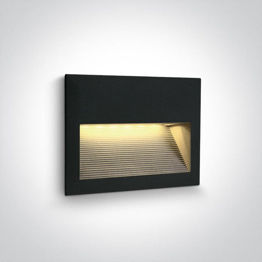 ONE Light Black Wall Recessed Led 2w Warm White Ip54 5291889060215 68016/B/W