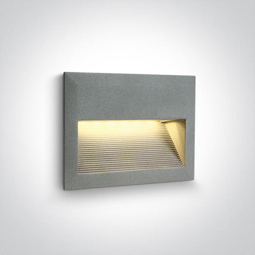 ONE Light Grey Wall Recessed Led 2w Warm White Ip54 5291889008750 68016/G/W