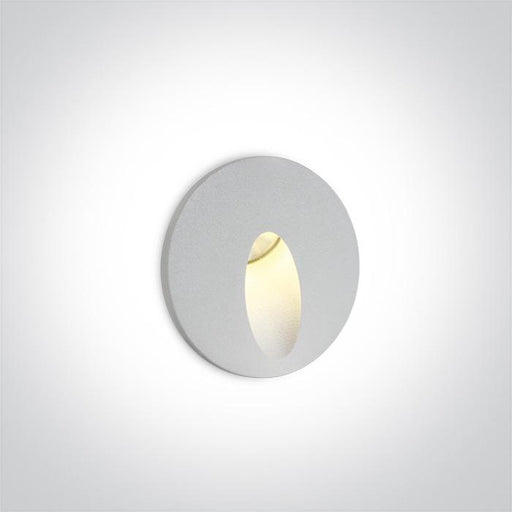 ONE Light White Recessed Ip54 1x3w Warm White 100-240v 5291889048695 68030/W/W