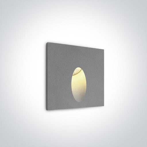 ONE Light Grey Recessed Ip54 1x3w Warm White 100-240v 5291889018261 68032/G/W