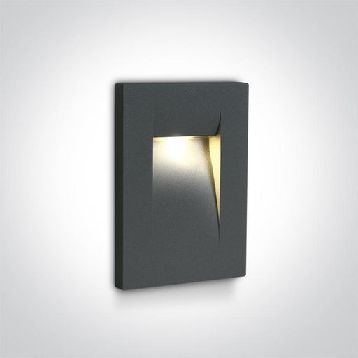ONE Light Anthracite Wall Recessed Led 3,6w Warm White Ip65 100-240v 5291889057468 68062/AN/W