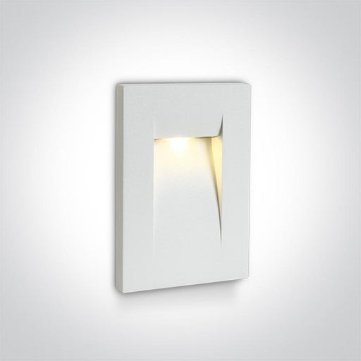 ONE Light White Wall Recessed Led 3,6w Warm White Ip65 100-240v 5291889039457 68062/W/W