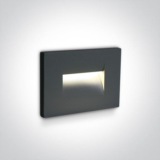 ONE Light Anthracite Wall Recessed Led 3,6w Warm White Ip65 100-240v 5291889057475 68064/AN/W
