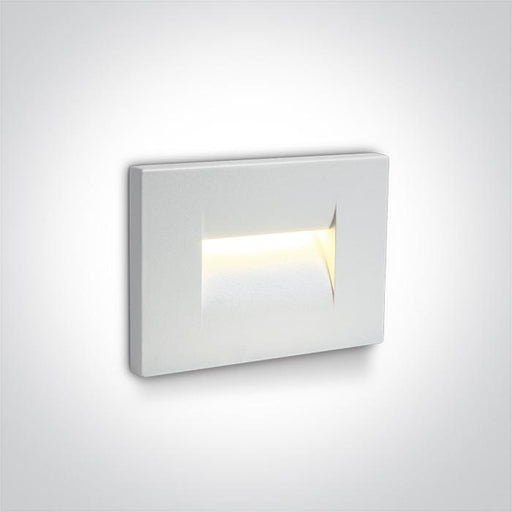 ONE Light White Wall Recessed Led 3,6w Warm White Ip65 100-240v 5291889039471 68064/W/W