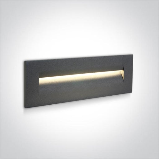 ONE Light Anthracite Wall Recessed Led 8,5w Warm White Ip65 100-240v 5291889048190 68066/AN/W
