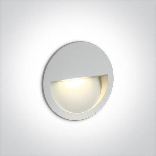 ONE Light White Wall Recessed Led 3w Ip65 Dark Light 100-240v 5291889049524 68068/W/W