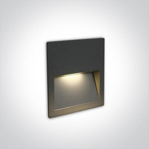 ONE Light Anthracite Wall Recessed Led 3w Ip65 Dark Light 100-240v 5291889049531 68068A/AN/W