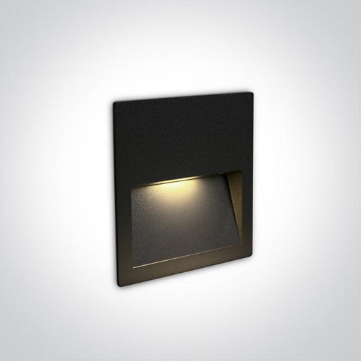 ONE Light Black Wall Recessed Led 3w Ip65 Dark Light 100-240v 5291889060239 68068A/B/W