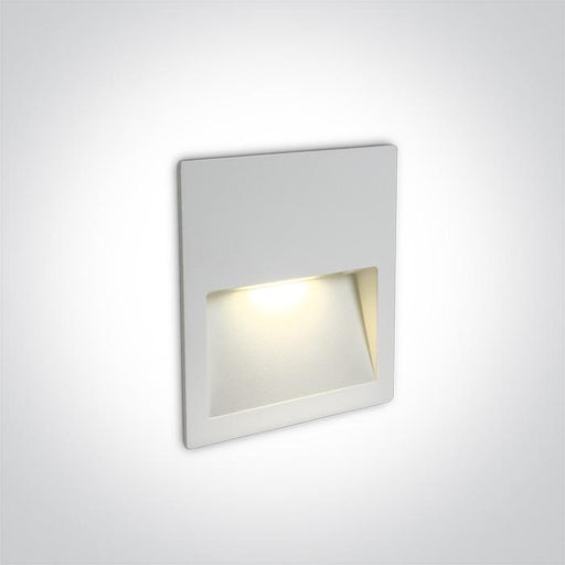 ONE Light White Wall Recessed Led 3w Ip65 Dark Light 100-240v 5291889049555 68068A/W/W