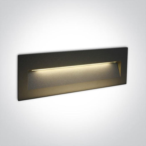 ONE Light Anthracite Wall Recessed Led 6w Ip65 Dark Light 100-240v 5291889049562 68068C/AN/W