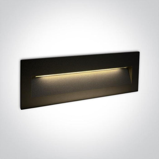 ONE Light Black Wall Recessed Led 6w Ip65 Dark Light 100-240v 5291889060246 68068C/B/W