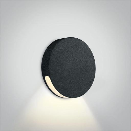 ONE Light Black Ip65 Wall Recessed Cob Led 2w Warm White 700ma Dark Light 5291889058458 68074/B/W