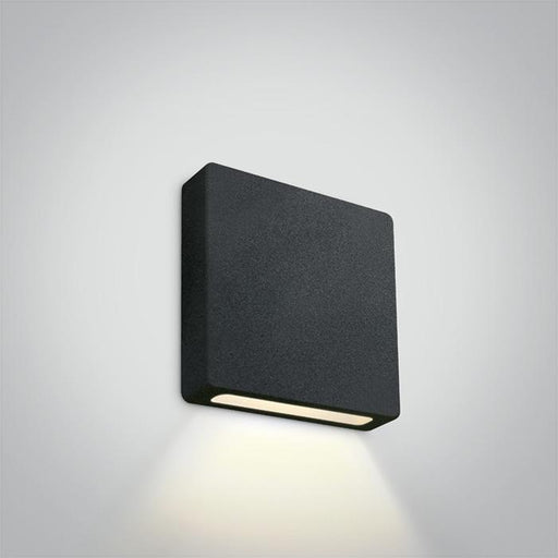 ONE Light Black Ip65 Wall Recessed Cob Led 2w Warm White 700ma Dark Light 5291889058472 68074A/B/W