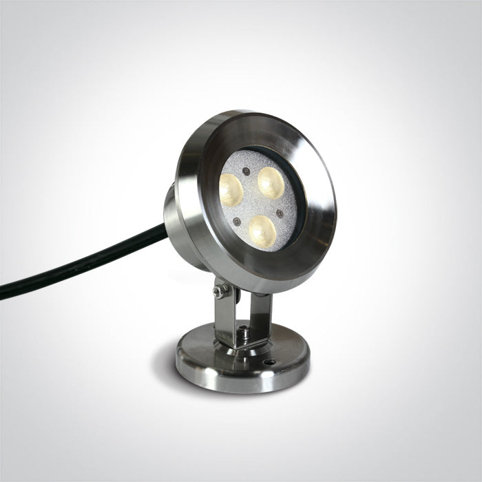 3X1W LED CW SS316 IP68 ADJUSTABLE UNDERWATER 24V