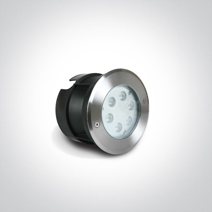 6X1W BLUE LED SS316 IP68 RECESSED UNDERWATER 24V