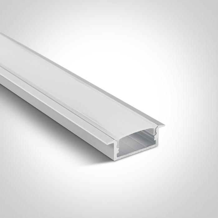 ONE Light White Recessed Profile 2m For 20mm Strips + Pc Opal Diff 5291889050933 7906R/W