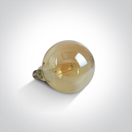 ONE Light Retro Led 7w Amber G125 E27 230v Dimmable 5291889045427 9G06RD/A/E