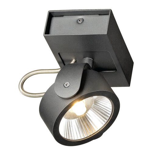 SLV SLV 1000127 KALU LED 1 Wall and Ceiling luminaire, black, 3000K, 60° 4024163177450 1000127