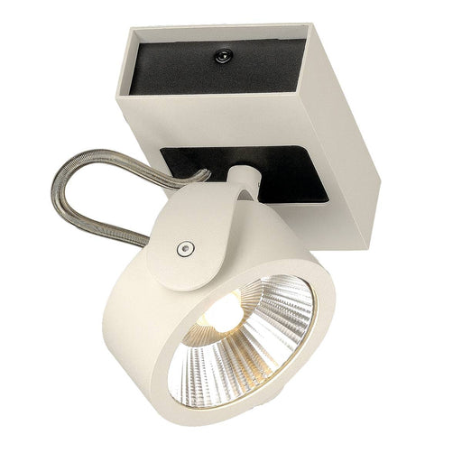 KALU LED 1 Wall and Ceiling luminaire, white/black, 3000K, 60°
