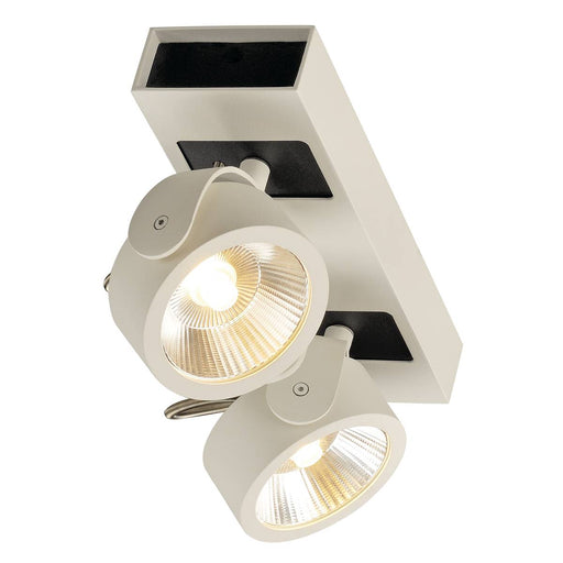 KALU LED 2 Wall and Ceiling luminaire, white/black, 3000K, 60°