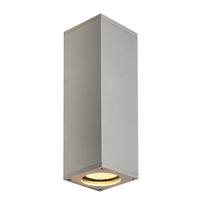 THEO UP/DOWN, QPAR51, wall light, silver-grey, max. 2x50W