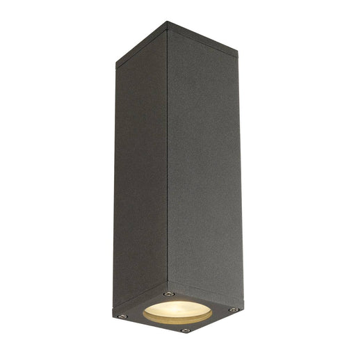 THEO UP/DOWN, QPAR51, wall light, anthracite, max. 2x50W