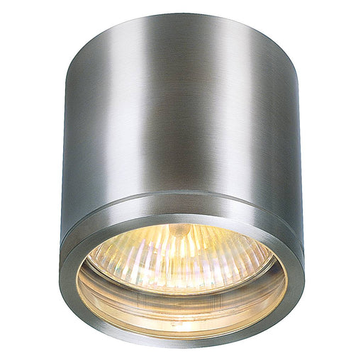 ROX CEILING OUT, QPAR11, outdoor ceiling light, brushed aluminium, max. 50W, IP44