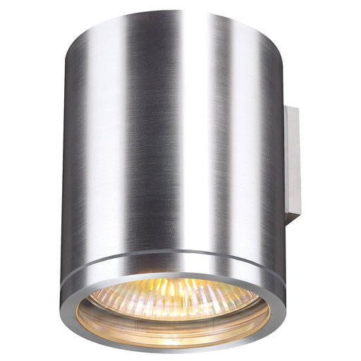 ROX WALL OUT, QPAR11, outdoor wall light, brushed aluminium, max. 50W, IP44