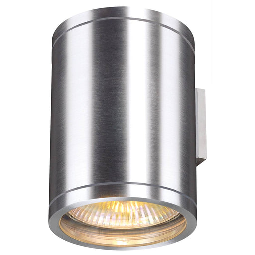 ROX WALL OUT UP/DOWN, QPAR11, outdoor wall light, brushed aluminium, max. 2x50W, IP44
