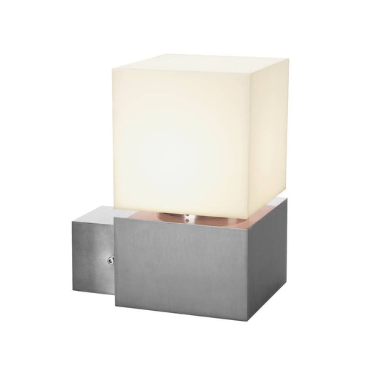 SLV SLV 1000336 SQUARE WALL, E27, outdoor wall light, stainless steel 304, max. 20W, IP44 4024163180818 1000336
