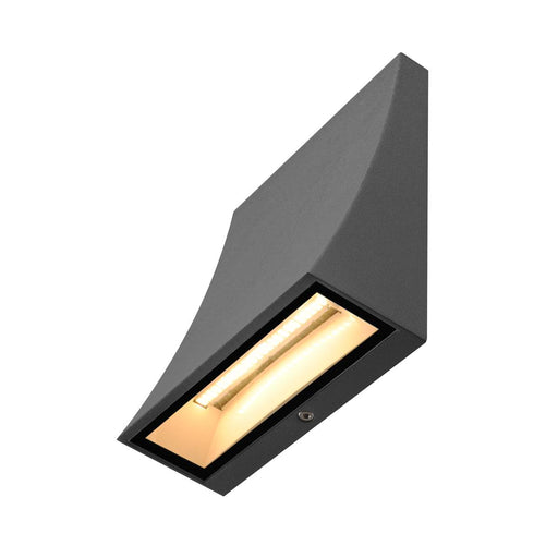 SLV SLV 1000342 DELWA WIDE LED outdoor wall light, 3000K, 100°, anthracite, IP44 4024163180870 1000342