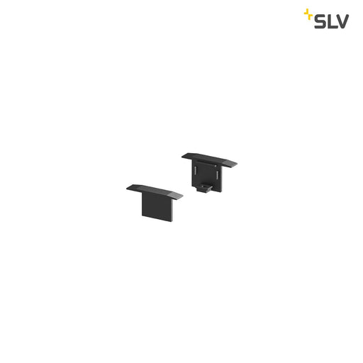 SLV SLV 1000474 GRAZIA 10 Recessed profile endcaps, 2 pcs., black 4024163187664 1000474