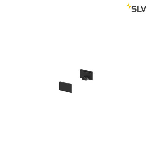 SLV SLV 1000477 GRAZIA 10 Endcap for GRAZIA Surface profile flat, 2 pcs., flat Version, black 4024163187695 1000477