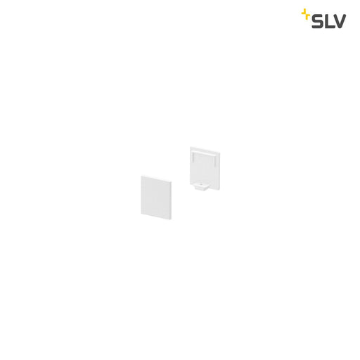 SLV SLV 1000482 GRAZIA 10 Endcap for GRAZIA Surface profile flat, 2 pcs., high version, white 4024163187749 1000482