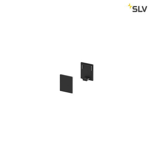 SLV SLV 1000483 GRAZIA 10 Endcap for GRAZIA Surface profile flat, 2 pcs., high version, black 4024163187756 1000483