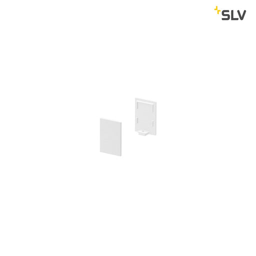 SLV SLV 1000485 GRAZIA 10 Endcap for GRAZIA Surface profile standard, 2 pcs., high version, white 4024163187770 1000485