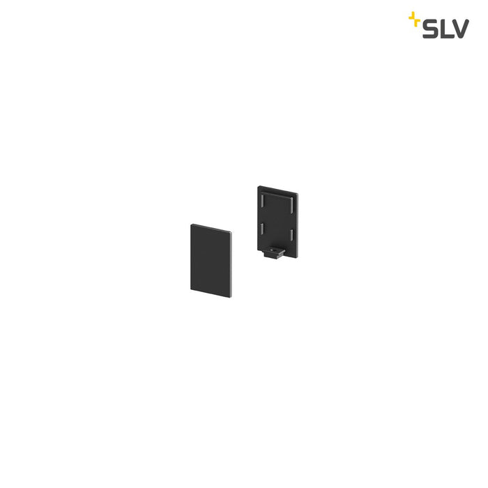 SLV SLV 1000486 GRAZIA 10 Endcap for GRAZIA Surface profile standard, 2 pcs., high version, black 4024163187787 1000486
