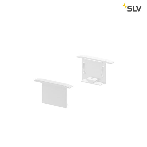 SLV SLV 1000557 GRAZIA 20 recess mounted profile end caps, 2 pc., white 4024163188494 1000557