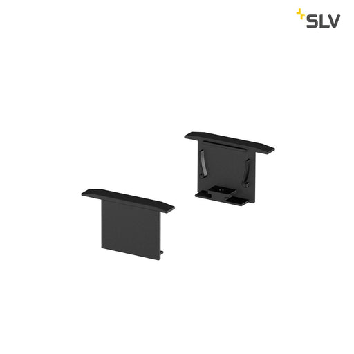 SLV SLV 1000558 GRAZIA 20 Recessed profile endcaps, 2 pcs., black 4024163188500 1000558