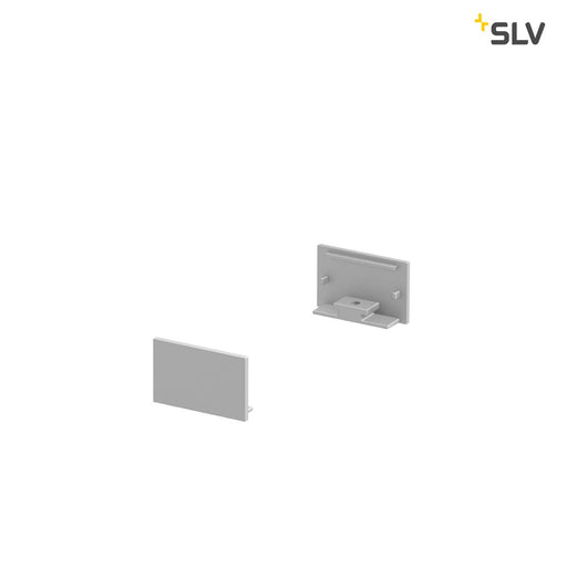 SLV SLV 1000559 GRAZIA 20 Endcap for GRAZIA Surface profile flat, 2 pcs., flat Version, alu 4024163188517 1000559