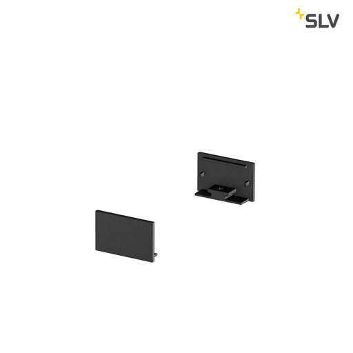 SLV SLV 1000561 GRAZIA 20 Endcap for GRAZIA Surface profile flat, 2 pcs., flat Version, black 4024163188531 1000561