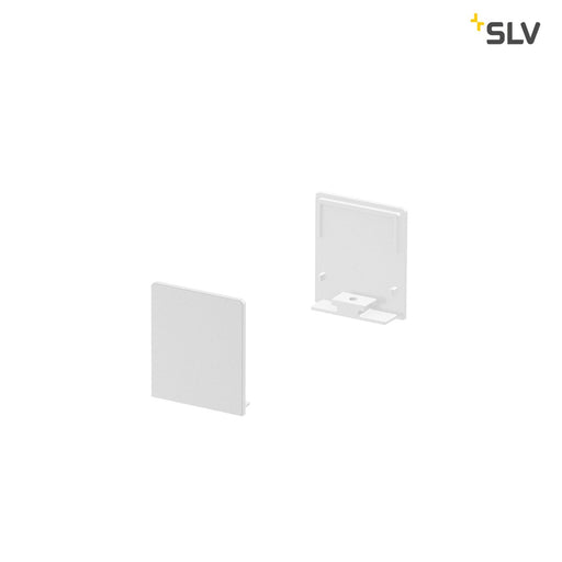 SLV SLV 1000563 GRAZIA 20 Endcap for GRAZIA Surface profile flat, 2 pcs., high version, white 4024163188555 1000563