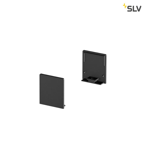 SLV SLV 1000564 GRAZIA 20 Endcap for GRAZIA Surface profile flat, 2 pcs., high version, black 4024163188562 1000564