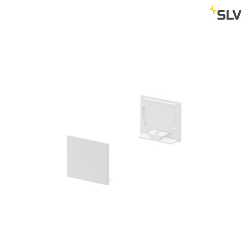 SLV SLV 1000566 GRAZIA 20 end cap for GRAZIA surface mounted profile standard, 2 pcs., flat version, white 4024163188586 1000566