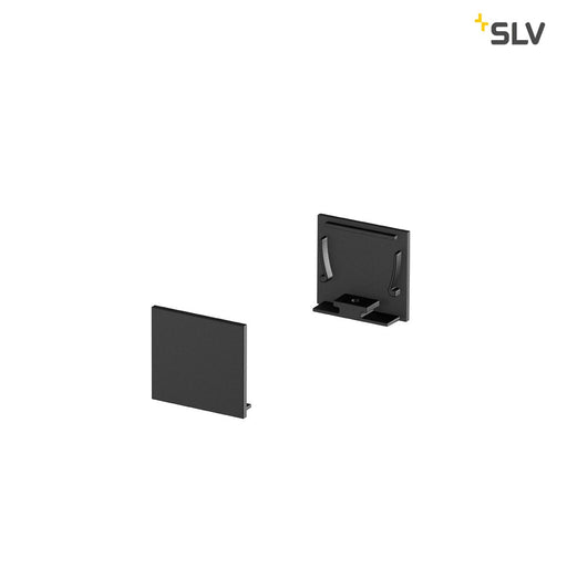 SLV SLV 1000567 GRAZIA 20 Endcap for GRAZIA Surface profile standard, 2 pcs., flat Version, black 4024163188593 1000567