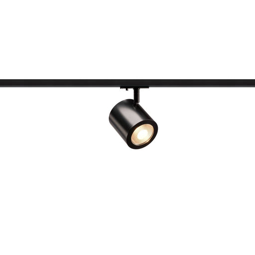 ENOLA_C LED Spot for 1 Circuit Track Light Systemase High-voltage Tracksystem, 3000K, black, 35°, incl. 1 Phase adapter